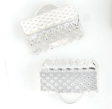 """Зажим для ленты, 10 ммx 8 мм, Цвет: серебро, Обжимной концевик для ленты - Интернет-маркет """"Прикраса"""" в Черкасской области"""