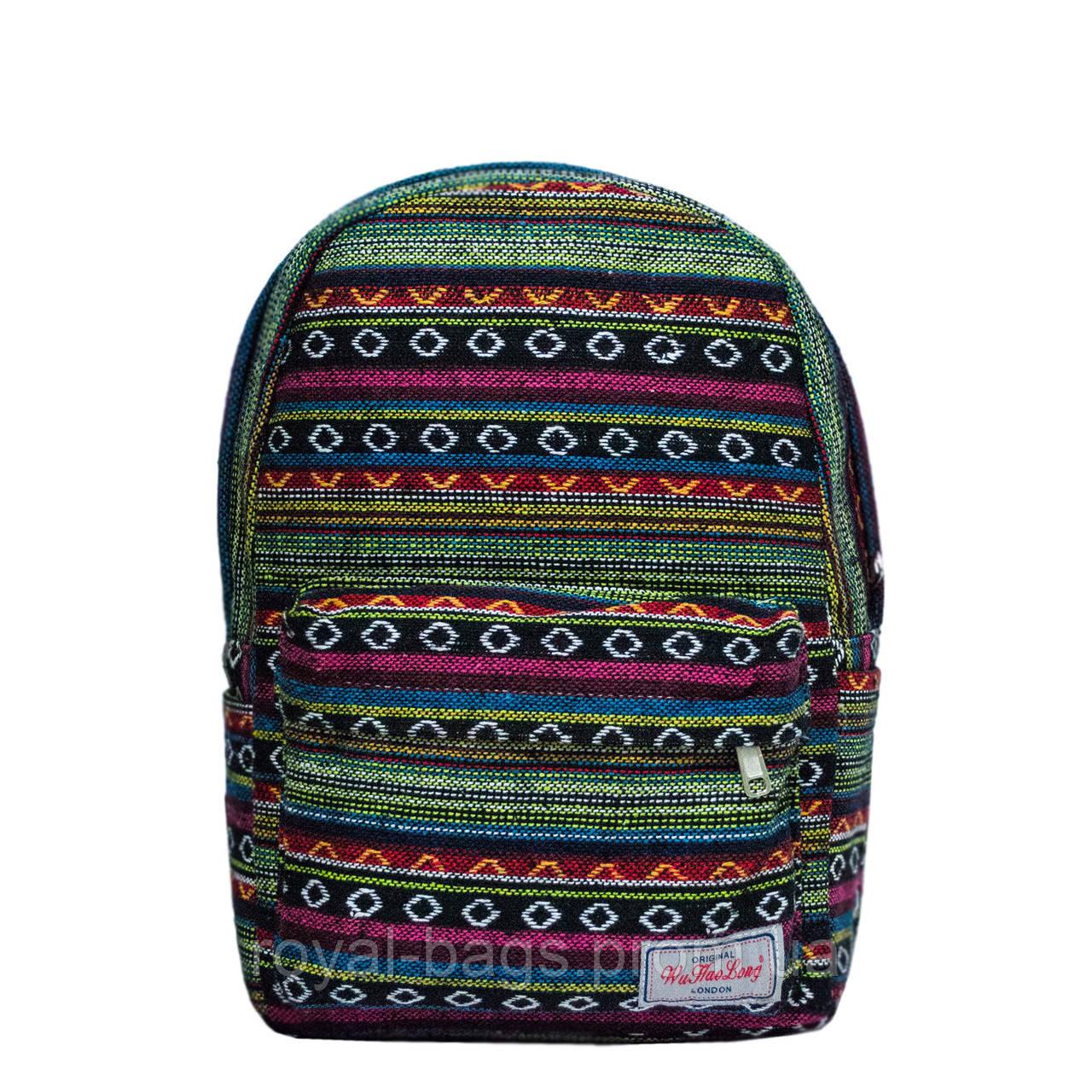 Рюкзак с ярким принтом 9 Рисунков ( Вышивка Зеленый)