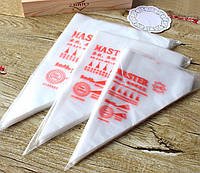 Кондитерский мешок одноразовый 100 шт, размер 45х25 см