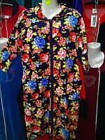 Женский велюровый халат больших размеров