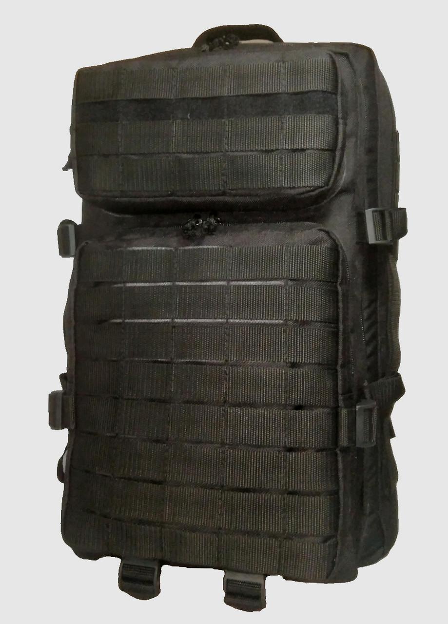 Тактичний, штурмової супер-міцний рюкзак 38 літрів чорний. Армія, туризм, рибалка, спорт 162/10