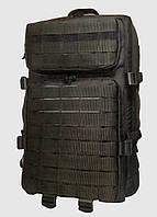 Тактический, штурмовой супер-крепкий рюкзак 38 литров черный. Армия, туризм, рыбалка, спорт 162/10