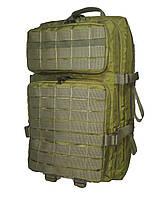 Тактический, штурмовой супер-крепкий рюкзак 38 литров олива. Армия,туризм,рыбалка,спорт,отдых.