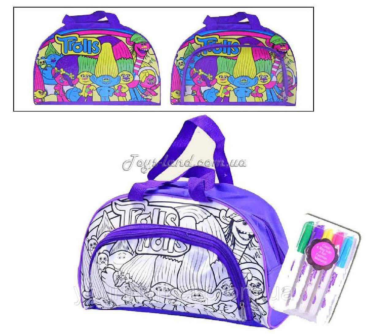 Сумка-раскраска  JX20253T-1/2 раскрашивать сумку, в коробке 35*27*6см