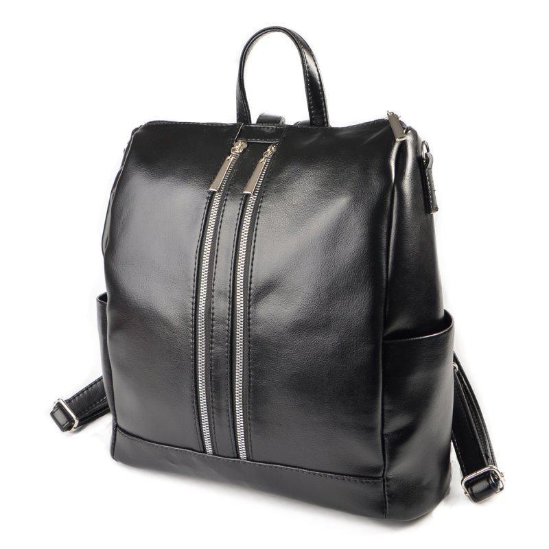 Женская черная стильная городская сумка-рюкзак М158-Z - Интернет-магазин  Dobrasumka в b263624876b