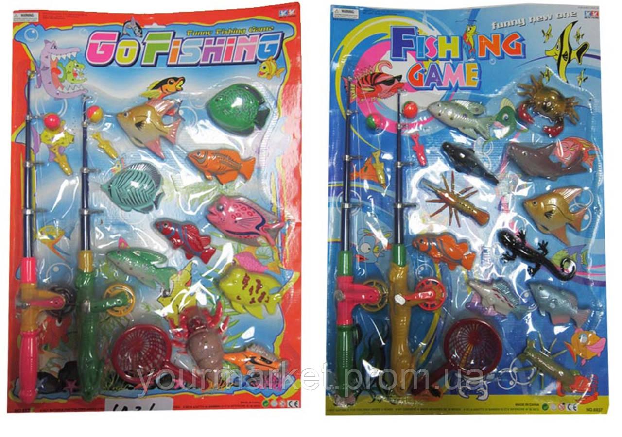 Рыбалка 6936/6937 (6937/6936) (36шт/2)магнит.,2 вида микс,удочка,рыбки