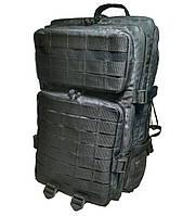 Тактический, штурмовой супер-крепкий рюкзак 38 литров Атакс черный. Армия,туризм,рыбалка,спорт,отдых.