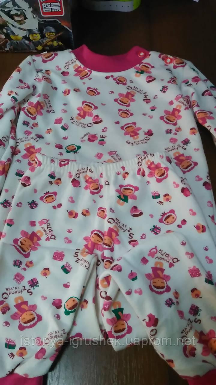 Красивая модная теплая пижама для девочки
