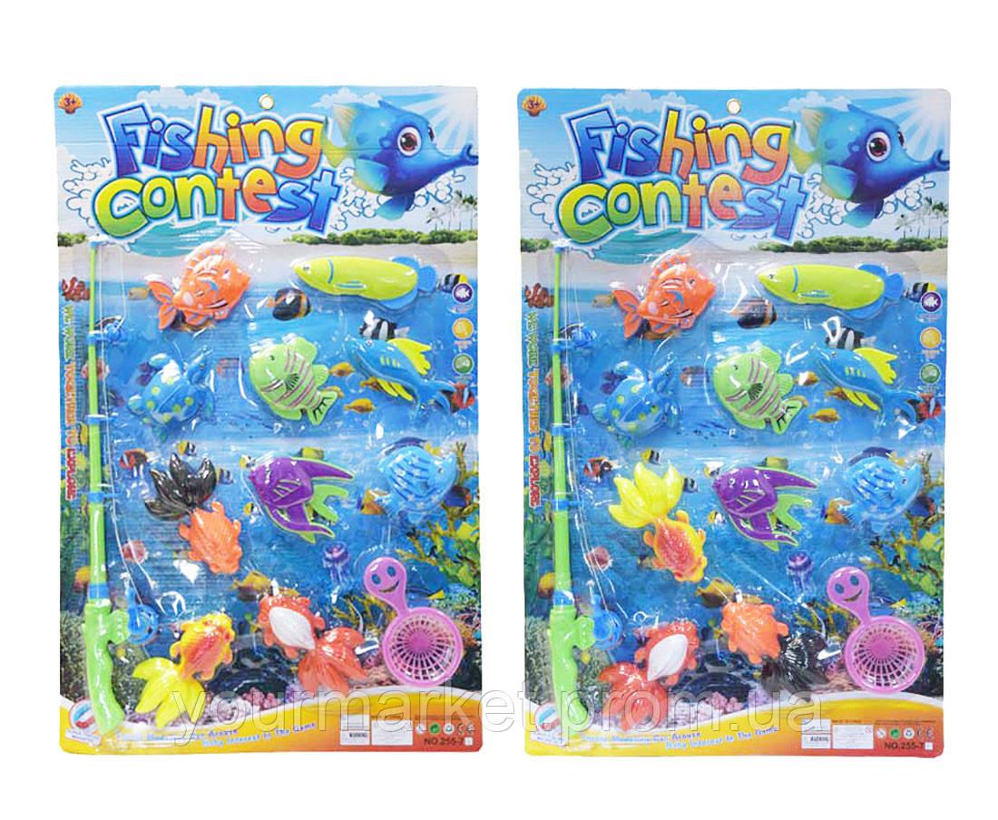 Рыбалка 255-70/255-71 (36шт/2)2 вида, магнит. удочка, рыбки, сито, на