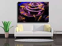 """Картина на холсте """"Подводные кораллы и рыбы Красного моря"""""""
