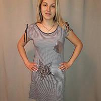 Женская трикотажная ночная рубашка