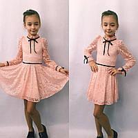 Платье детское , Ткань:стрейч гипюр , 3 расцветок!!! ММ № 709