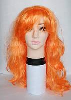 Парик оранжевый, кудрявый (длина 65 см)