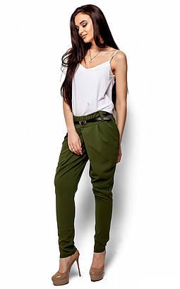 (S-M, M-L) Стильні оливкові брюки Odry