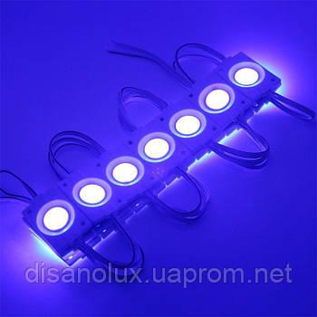 Светодиодный модуль LED COB 2,4W Синий, 12В, IP65