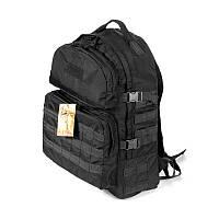 Тактический походный супер-крепкий рюкзак 40 литров чёрный. Туризм, армия, рыбалка, спорт, охота