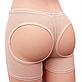 Бежевые трусы для поднятия ягодиц, моделирующие шорты для коррекции бедер и ягодиц - Booty Maker, Размер XXL, фото 2