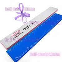 Двусторонняя пилочка, пилка 180/240 для наращивания ногтей ровная