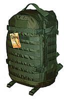 Тактический, штурмовой супер-крепкий рюкзак 32 литров олива. Армия, туризм, рыбалка, спорт.