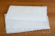 Вафельное белое полотенце 45*65