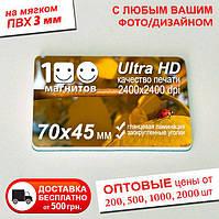 Мягкие фотомагниты на заказ. Размер 70х45 мм. Толщина 3 мм