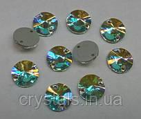 Пришивные камни Preciosa (Чехия) 12 мм Crystal AB