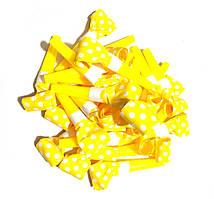 Дудки язычки бумажные. Цвет: Жёлтый. В упак: 100шт. Размер: 6см.