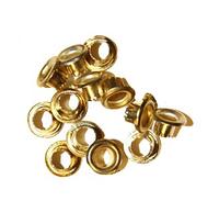 Стальные люверсы 4,0 мм, золото  (1000 шт/уп.)