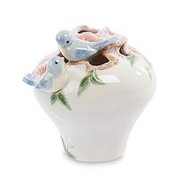 """Фарфоровая вазочка """"Голубые птицы Счастья"""" (Pavone) CMS - 54/ 3"""