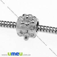 Бусина PANDORA мет. Цветы, 11х8 мм, Темное серебро, 1 шт. (BUS-007735)