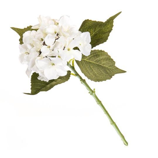 Белая гортензия 53см