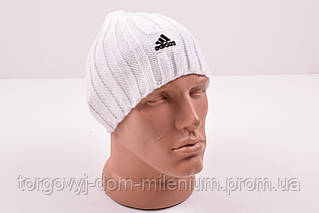 Шапка мужская вязаная (цв.белый) Adidas Adidas