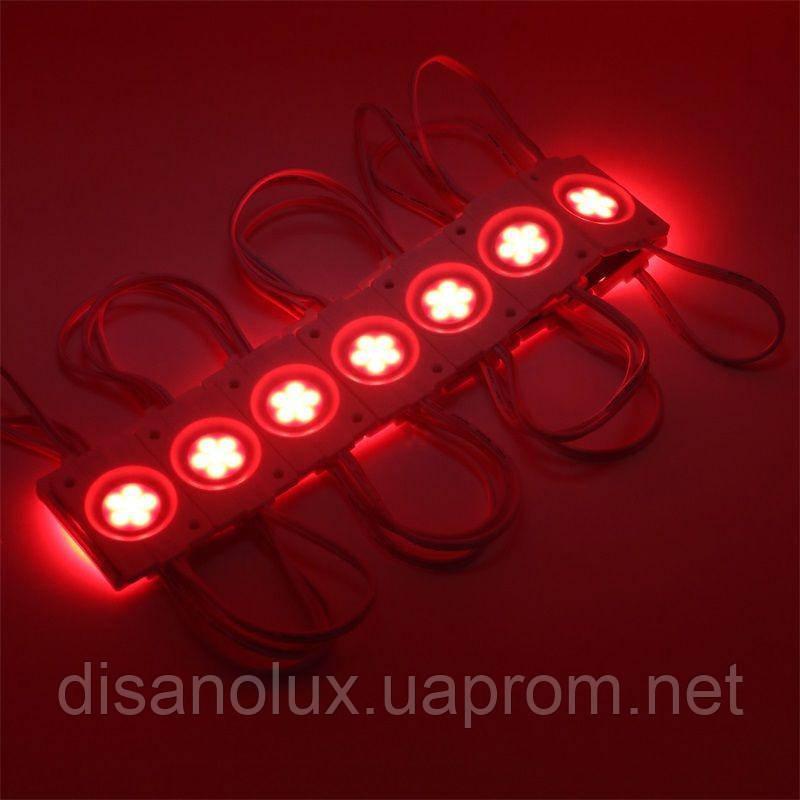 Светодиодный модуль COB led 2,4W Красный, 12В, IP65