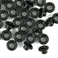 Стальные люверсы Диаметр 4,0 мм, черный  (1000 шт/уп.)
