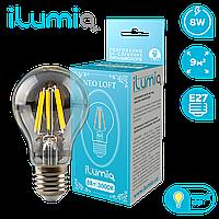 Лампа филам. Ilumia 057 LF-8-A60-E27-WW 800Лм, 8Вт, 3000К