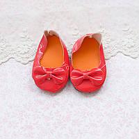 Обувь для кукол, туфельки лаковые с бантиком, красные - 7*3.5 см