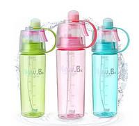 Спортивная бутылка для воды розовый