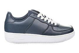 Кожаные кроссовки Restime air force Только 44 размер кроссовки айфорсы, синие кроссовки, на высокой подошве