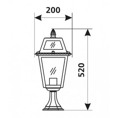 Садово-парковый светильник DeLux PALACE 1019A1 серебрянный, фото 2