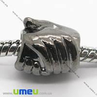 Бусина PANDORA мет. накручивающаяся Руки, 11х10 мм, Черная, 1 шт. (BUS-007403)