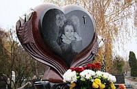 Детский памятник элитный большое сердце из гранита