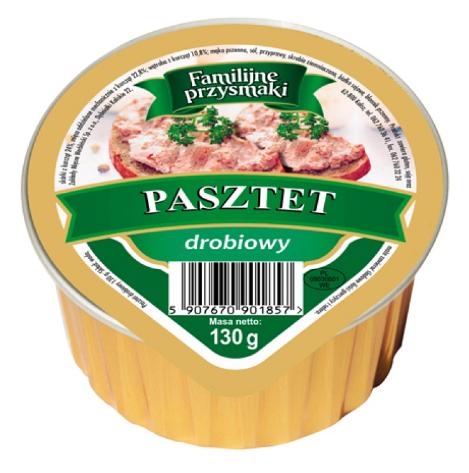 Pasztet Familijne Przysmaki z drobiem 130 гр.