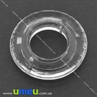 Бусина-коннектор акриловая, Кольцо, 39х39 мм, Прозрачная, 1 шт. (KAB-008613)