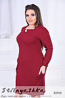 Платье-футляр для полных марсал