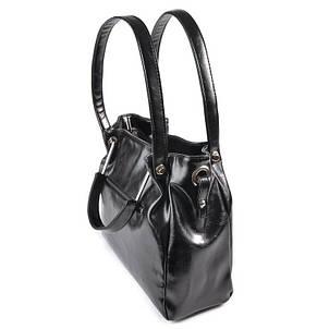 Женская черная стильная сумка М164-27, фото 2