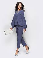 Стильный комплект из кофты в стиле oversize и брюк зауженных к низу, фото 1