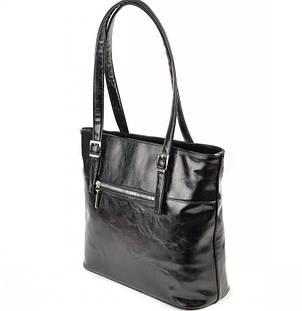 Женская сумка черная из искусственной кожи М168-27, фото 2