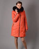 Женская зимняя куртка - пальто с капюшоном