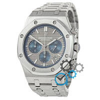 Мужские часы Audemars Piguet Royal Oak Chronograph Steel Silver-Gray-Blue