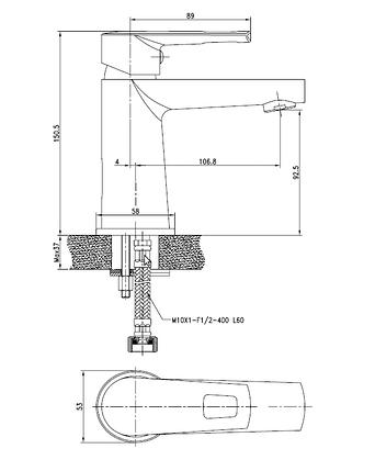 Смеситель для раковины VOLLE BENITA, хром, 35 мм, фото 2